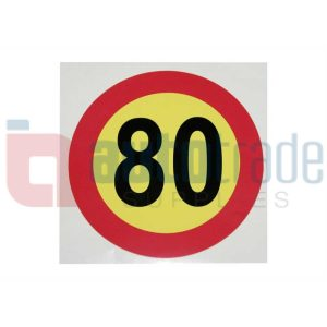 STICKER 80KM (1PC)
