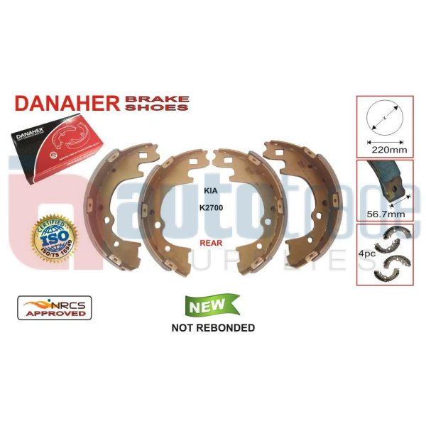 BRAKE SHOE (220mmX56.7mm)