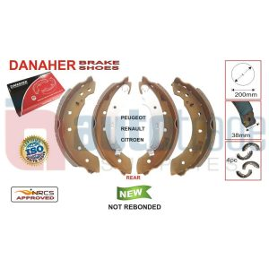 BRAKE SHOE (200mmX38mm)
