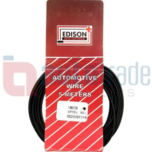 AUTO CABLE 1.0mm (5mtr-BLACK)