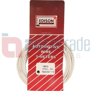 AUTO CABLE 1.0mm (5mtr-WHITE)