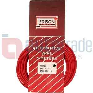 AUTO CABLE 1.0mm (5mtr-RED)