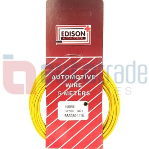 AUTO CABLE 1.0mm (5mtr-YELLOW)
