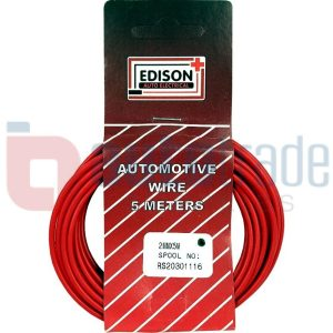 AUTO CABLE 2.0mm (5mtr-RED)