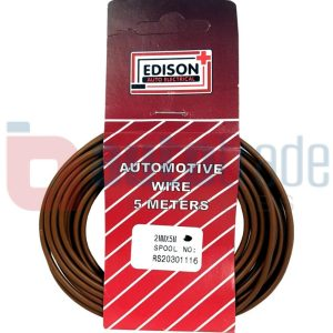 AUTO CABLE 2.0mm (5mtr-BROWN)
