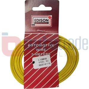 AUTO CABLE 2.5mm (5mtr-YELLOW)