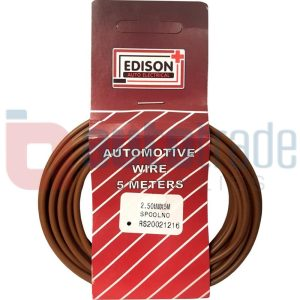 AUTO CABLE 2.5mm (5mtr-BROWN)