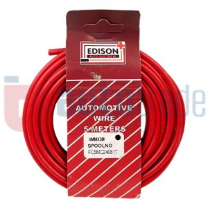 AUTO CABLE 6.0mm (5mtr-RED)