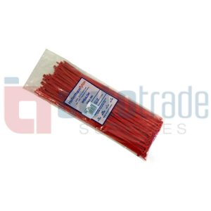 CABLE TIES 100PC - RED