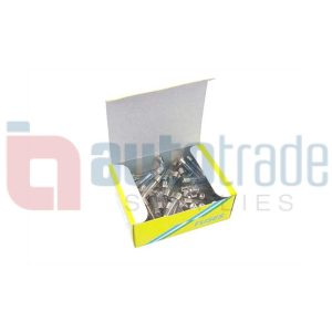 FUSE GLASS 25AMP 100PC