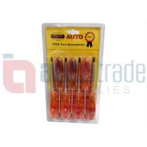 SCREWDRIVER SET TORX 7PC