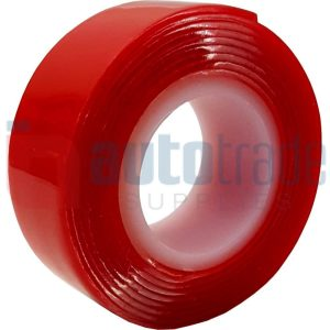 TAPE DOUBLE SIDED RED LINER 1M