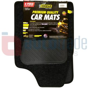 SHIELD CAR MATS MEDIUM 4PC