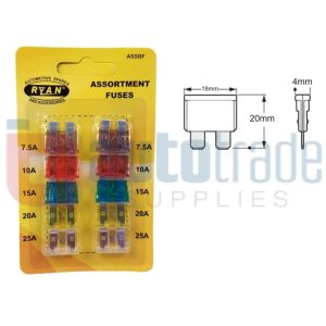 RYAN BLADE FUSE STD 10PC